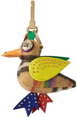 Burberry Barry the Duck Rainbow Vintage Check Charm
