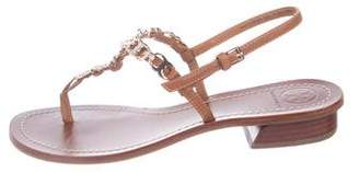Tory Burch Chain-Link Thong Sandals