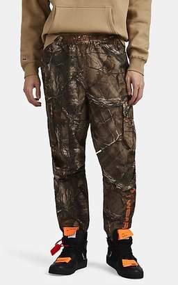 Wu Wear Men's Logo Camouflage Cargo Track Pants - Orange