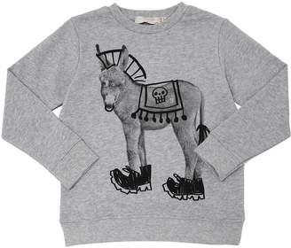 Stella McCartney Donkey Print Organic Cotton Sweatshirt
