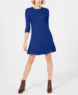 NY Collection Petite Cable-Knit Sweater Dress