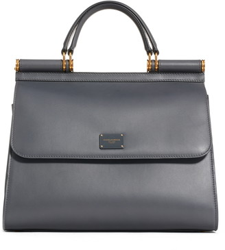 Dolce & Gabbana Sicily 58 Leather Satchel with Shoulder Strap