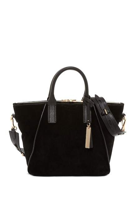 Vince Camuto Alcia Small Suede & Leather Tote