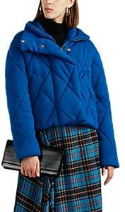 Cédric Charlier Women's Diamond-Quilted Wool Puffer Jacket - Blue