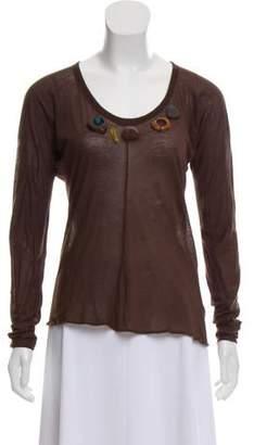 Marni Semi-Sheer Long Sleeve Top