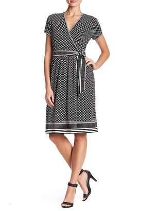 Max Studio Polka Dot Wrap Dress