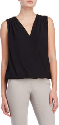 Max Studio Sleeveless Surplice Top