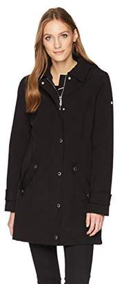 Tommy Hilfiger Women's Water Repellant Hooded Raincoat