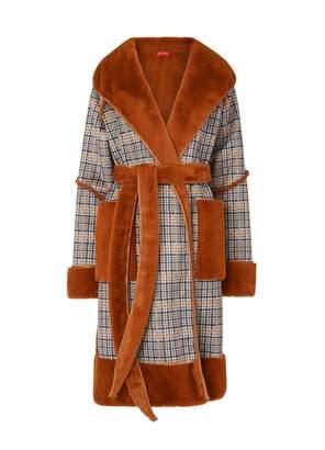 Kitri Finley Ginger Reversible Teddy Coat