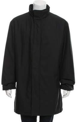 Burberry Nova Check Lined Zip-Up Coat