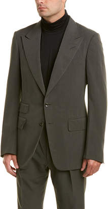 Tom Ford 2Pc Silk Suit With Flat Pant