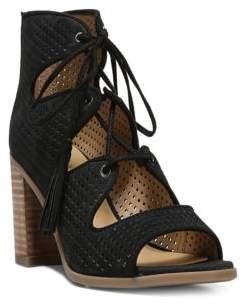 Franco Sarto Honolulu Cutout Lace-Up Sandals