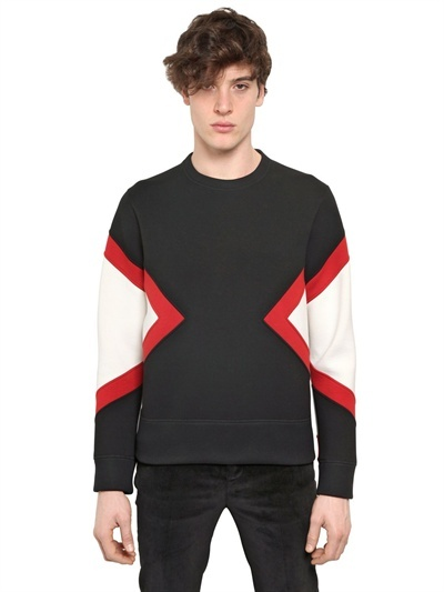 Neil Barrett Geometric Neoprene Oversized Sweatshirt