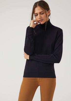 d174b21840f Emporio Armani Plain Knit Pure Virgin Wool Turtleneck