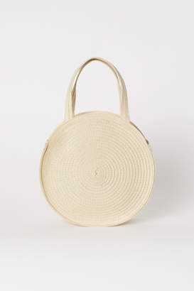 H&M Round Straw Bag - Beige