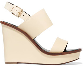 Tory Burch Lexington Leather Wedge Sandals