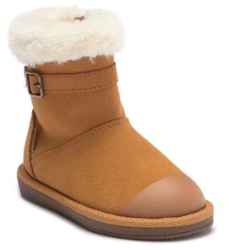 Stride Rite Lydia Faux Fur Suede Boot - Wide Width Available (Toddler & Little Kid)