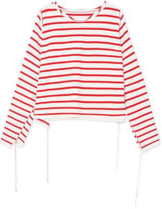 MM6 MAISON MARGIELA Striped Cotton Top - Red