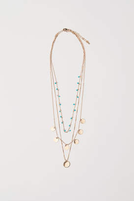 H&M Triple-strand Necklace - Turquoise