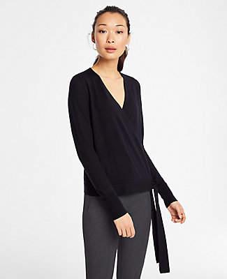 Ann Taylor Extrafine Merino Wool Wrap Sweater