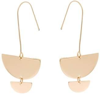 Oliver Bonas Misha Semi-Circle Charm Drop Earrings