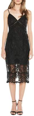 Bardot Lola Embroidered Lace Mini Dress