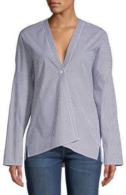 Bailey 44 Striped Button Front Blouse