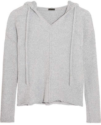 ATM Anthony Thomas Melillo - Boho Terry Hooded Top - Blue $395 thestylecure.com