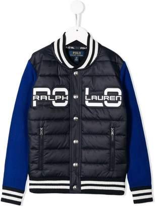 Ralph Lauren Kids padded baseball jacket