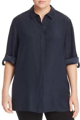 Lafayette 148 New York Plus Jeslyn Silk Blouse