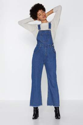 Nasty Gal There She Goes Denim Overalls