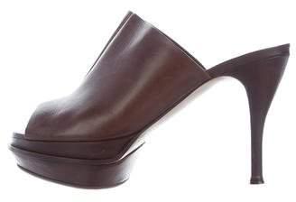 Marni Peep-Toe Platform Slide Sandals