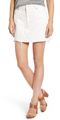 Women's Topshop Cutoff Denim Skirt $55 thestylecure.com