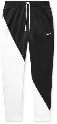 Nike Slim-Fit Tapered Colour-Block Tech-Jersey Track Pants - Men - Black