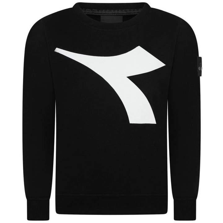 DiadoraBoys Black & White Logo Sweater