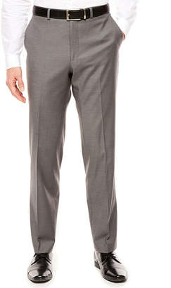 Jf J.Ferrar JF Men's Stretch Gray Sharkskin Slim- Fit Pants