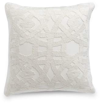 Hotel Collection Winter White Square Cushion