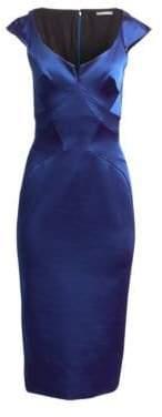 Zac Posen Stretch Satin Cocktail Dress