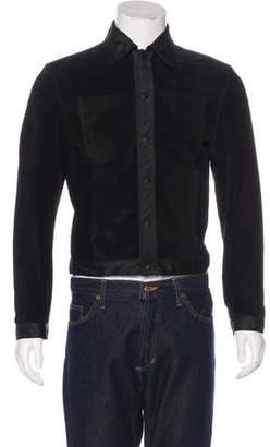 Miu Miu Suede Snap-Front Jacket