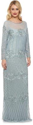Gatsbylady London Art Deco Long Sleeve Embellished Maxi Dress