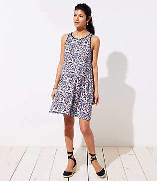 LOFT Maternity Kaleidoscope Sleeveless Swing Dress
