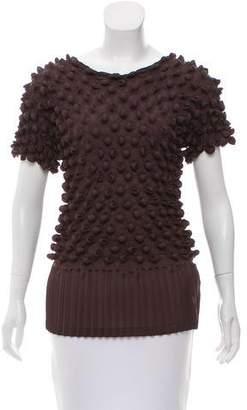 Issey Miyake Textured Short Sleeve Top