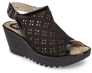 Women's Fly London Ybel Open Toe Platform Wedge $179.95 thestylecure.com
