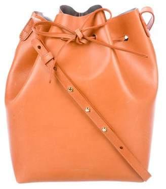 Mansur Gavriel Leather Drawstring Bucket Bag