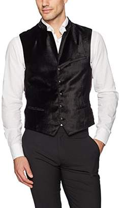 John Varvatos Men's Band-Collar Vest Biga