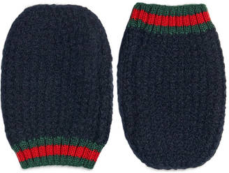 Children's cashmere wool mittens with Web $100 thestylecure.com