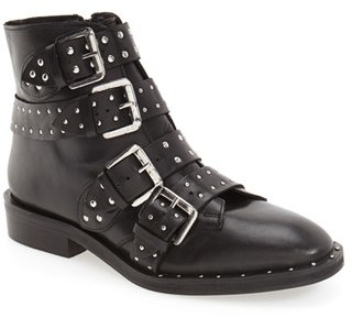 Women's Topshop 'Amy' Studded Buckle Bootie $160 thestylecure.com