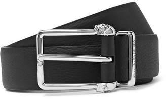Alexander McQueen 3cm Black Full-Grain Leather Belt - Men - Black