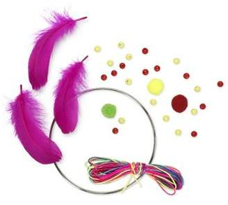 Your Own NPW Npw Make Dream Catcher Craft Kit Rainbow Thread, Beads And Feathers