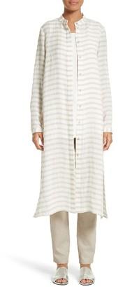 Women's Lafayette 148 New York Auden Stripe Tunic $448 thestylecure.com